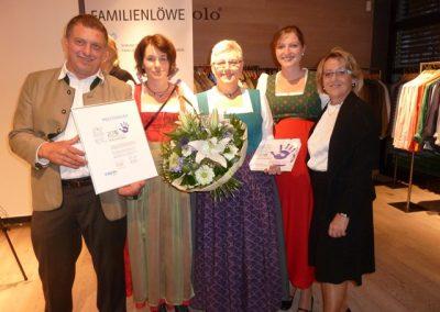 Auszeichnung Familienlöwe 2015